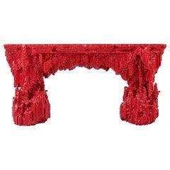 "Chris Schanck, ""Grotto Console: Pomegranate"", Console Table, Desk, Red, 2019"