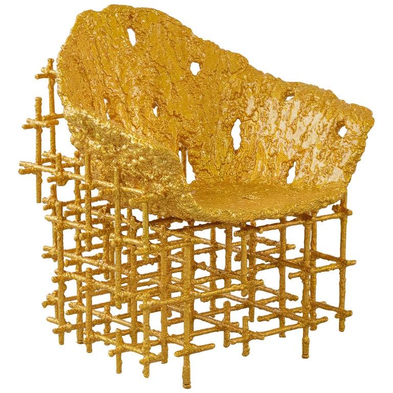 Chris Schanck Shell Chair: Red Gold, 2019, offered by Friedman Benda