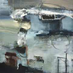 Encounter II: Gestural Abstract Landscape Painting by Chris Sims