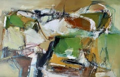 Find My Way Home (LP32): Abstract Oil Painting on Paper (unframed) by Chris Sims