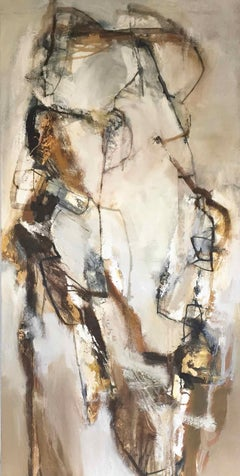 Hawkshead: Gestural Abstract Oil Painting by Chris Sims