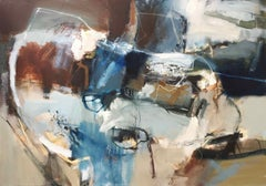 Ingrained Source: Gestural Abstract Landscape Oil Painting by Chris Sims