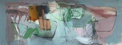 Isolation No 8: Abstract Landscape Painting on Paper (unframed) by Chris Sims