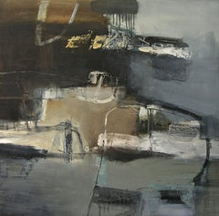 Material Exchange: Gestural Abstract Landscape Painting by Chris Sims