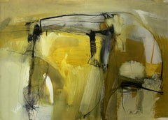 Sunrise: Abstract Landscape Painting on Paper (unframed) by Chris Sims