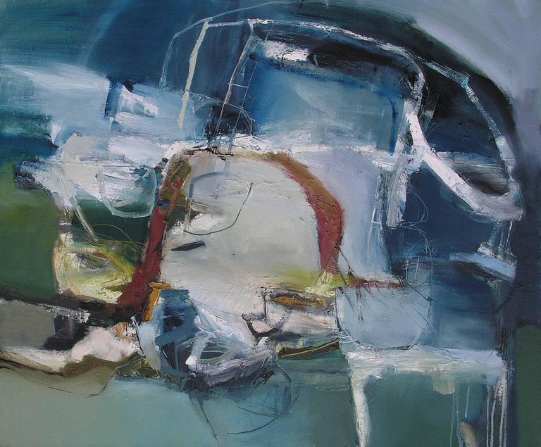 The Letting Go: Gestural Abstract Landscape Oil Painting by Chris Sims