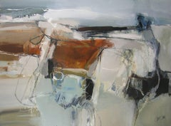 Up on High, A large contemporary abstract landscape oil painting