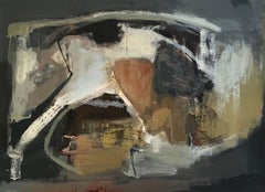 Work on Paper LP1: Abstract Landscape Oil Painting by Chris Sims