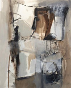 Work on Paper LP11: Abstract Landscape Oil Painting by Chris Sims
