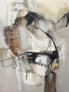 Work on Paper LP12: Abstract Landscape Oil Painting by Chris Sims