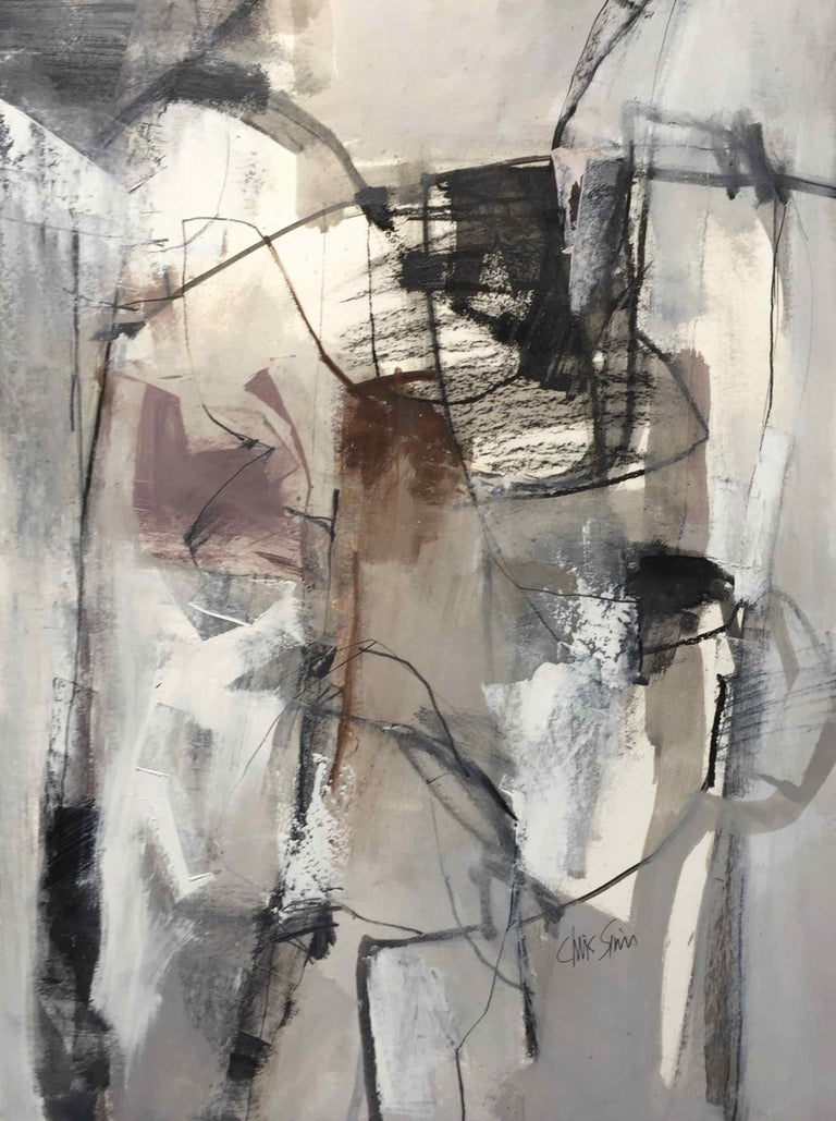 Work On Paper Lp17 Abstract Landscape Oil Painting By Chris Sims