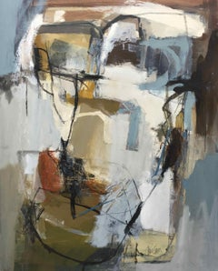 Work on Paper LP19: Abstract Landscape Oil Painting by Chris Sims