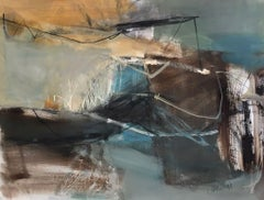 Work on Paper LP2: Abstract Landscape Oil Painting by Chris Sims