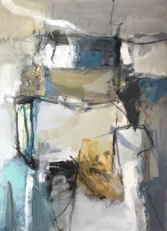 Work on Paper LP21: Abstract Landscape Oil Painting by Chris Sims