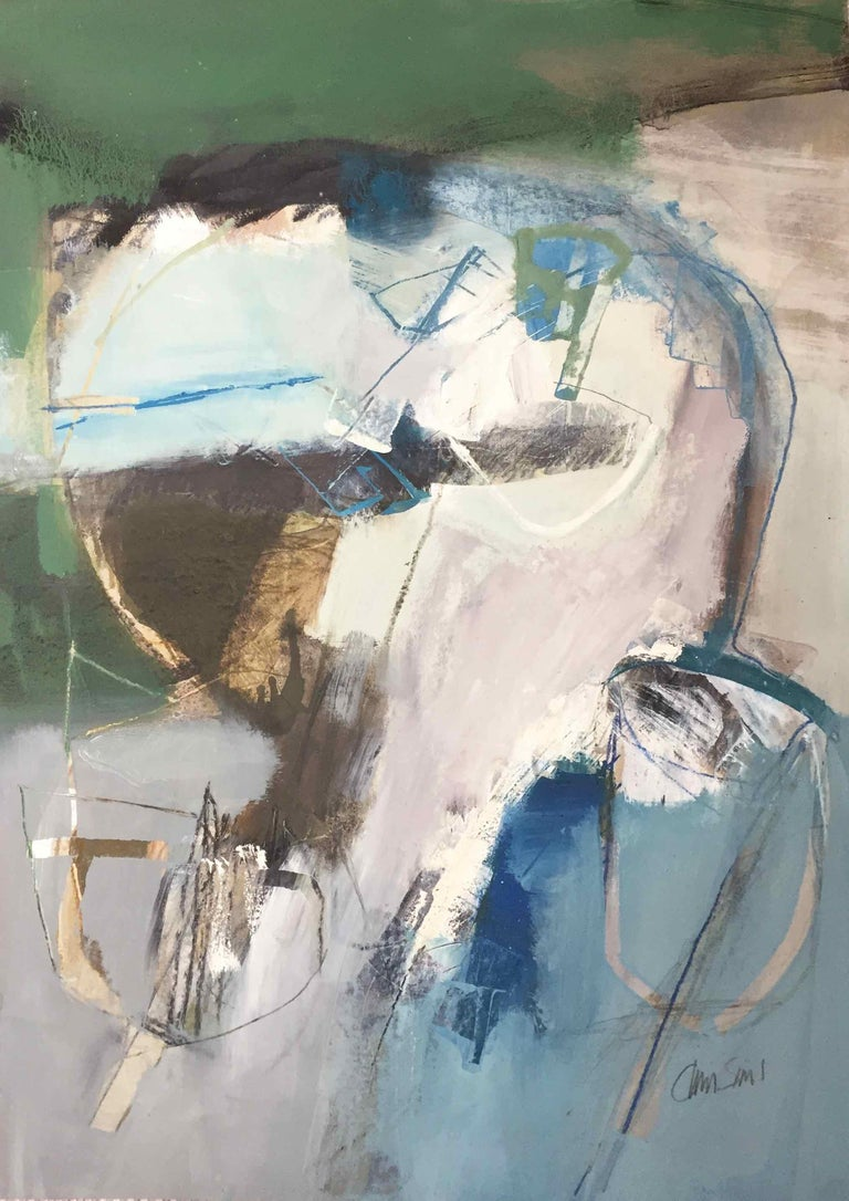 Work On Paper Lp22 Abstract Landscape Oil Painting By Chris Sims