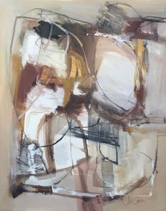 Work on Paper LP25: Abstract Landscape Oil Painting by Chris Sims