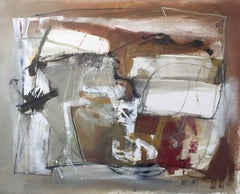 Work on Paper LP26: Abstract Landscape Oil Painting by Chris Sims