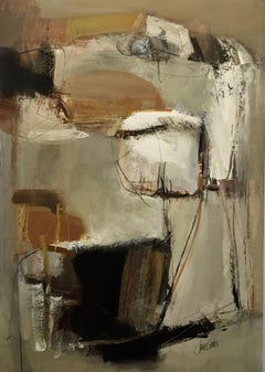 Work on Paper LP7: Abstract Landscape Oil Painting by Chris Sims