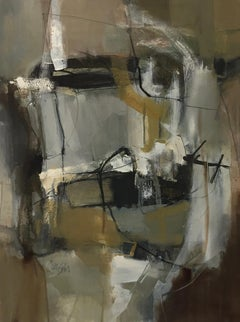 Work on Paper LP8: Abstract Landscape Oil Painting by Chris Sims