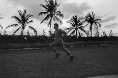 Morning Run - Chris Smith, Muhammad Ali, boxing, black & white, 34.5x48 in