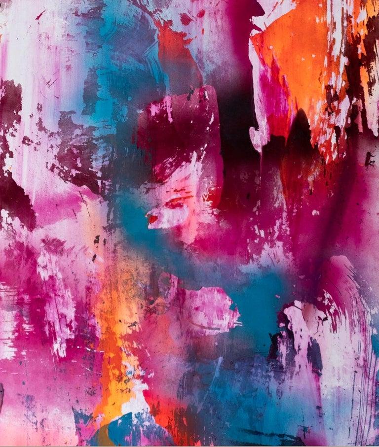 JPH - Gray Abstract Painting by Chris Trueman