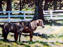 Impressionist Horse Painting, July Horses