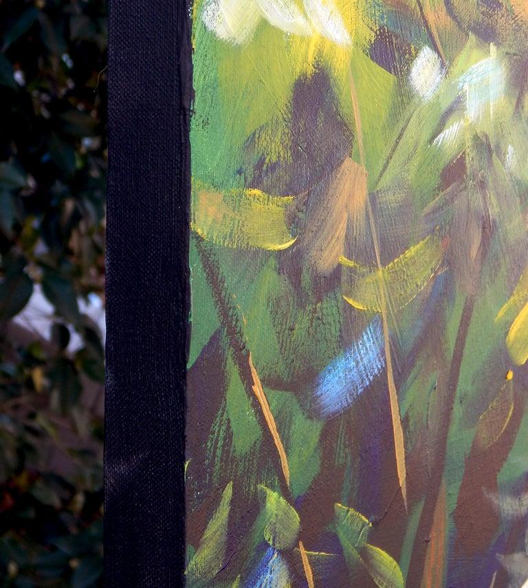 Zen Gardener - Painting by Chris Wagner