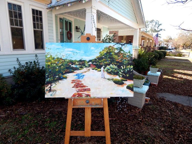 Zen Gardener - Impressionist Painting by Chris Wagner