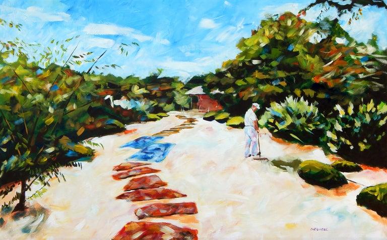 Chris Wagner Landscape Painting - Zen Gardener