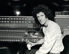 Brian May of Queen in Recording Studio Vintage Original Photograph
