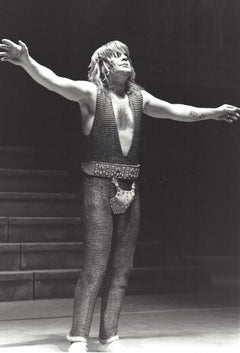 Ozzy Osbourne Performing with Arms Wide Vintage Original Photograph