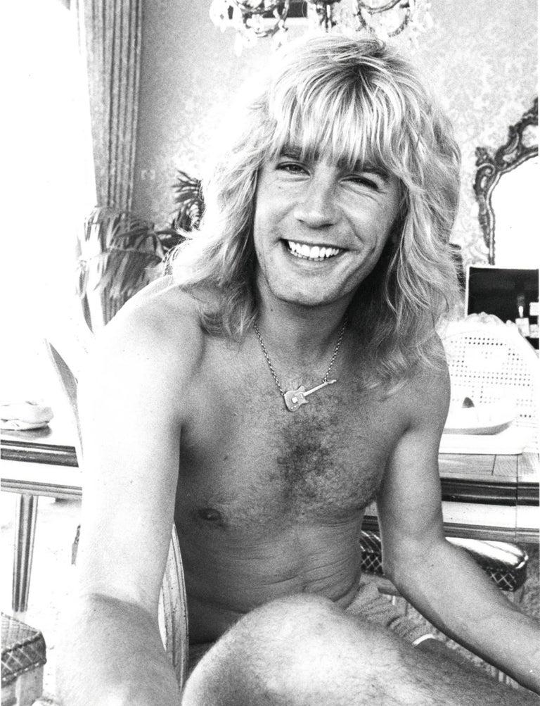 Chris Walter Portrait Photograph - Rick Parfitt Smiling Candid Vintage Original Photograph