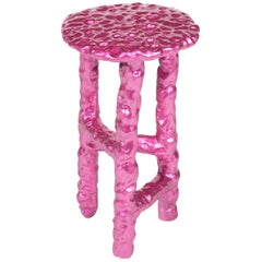 "Chris Wolston Pink Painted Terracotta ""Alphonse"" Side Table"