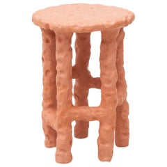 "Chris Wolston Terracotta ""Crocodile"" Side Table"