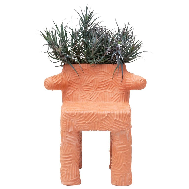 """Chris Wolston Terracotta """"Magdalena Plant Chair"""" For Sale"""