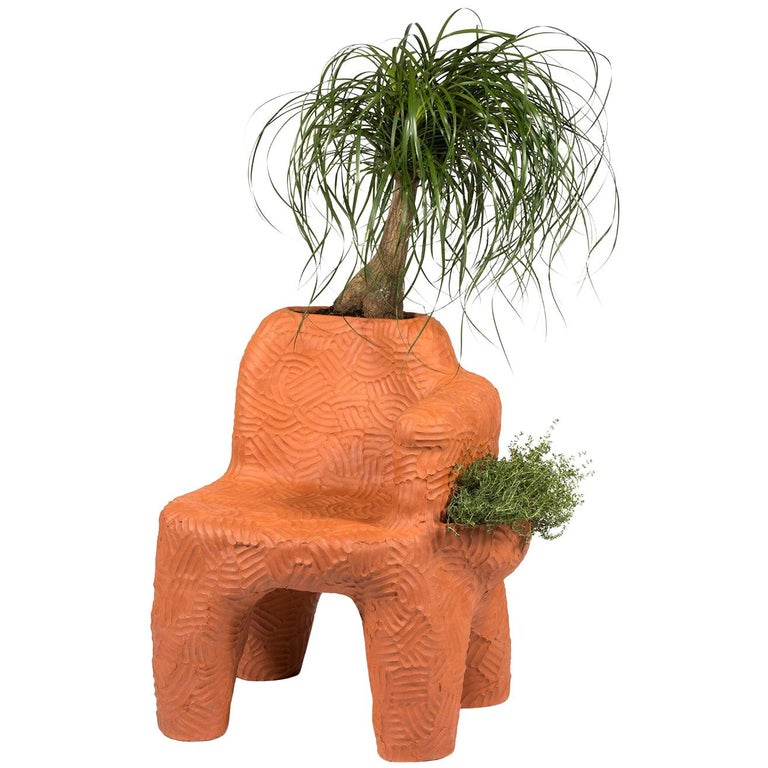 Chris Wolston Terracotta 'Topanga Plant Chair' For Sale