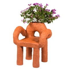 "Chris Wolston Terracotta ""Zipolite Plant Chair"""