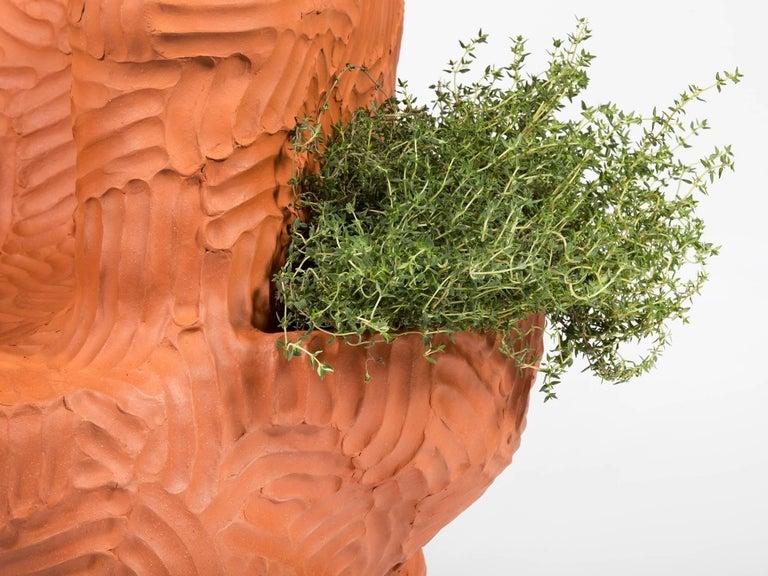 American Chris Wolston Terracotta 'Topanga Plant Chair' For Sale