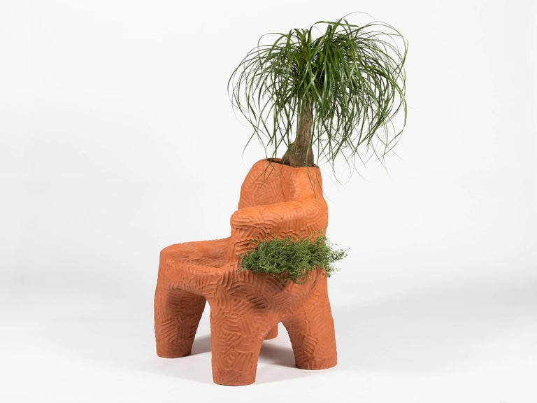 Contemporary Chris Wolston Terracotta 'Topanga Plant Chair' For Sale