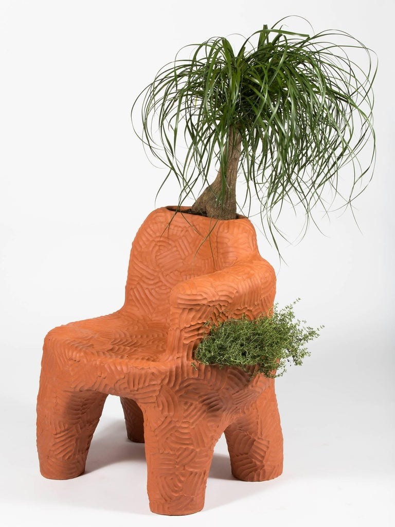 Chris Wolston Terracotta 'Topanga Plant Chair' For Sale 1