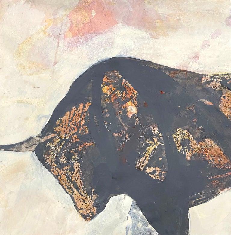 Chrissy Dolan Terrasi Animal Painting - Taurus