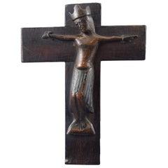 Christ 'Corpus Christi' Copper, Enamel, Wood, Limoges, France, 12th-13th Century