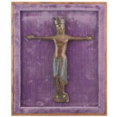 Christ 'Corpus Christi' Enamel, Copper, Textile, Wood, Limoges 12th-13th Century