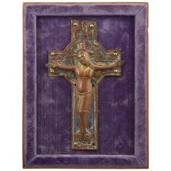 Christ on Cross, 'Corpus Christi', Enamel, Copper, Limoges, 12th-13th Century