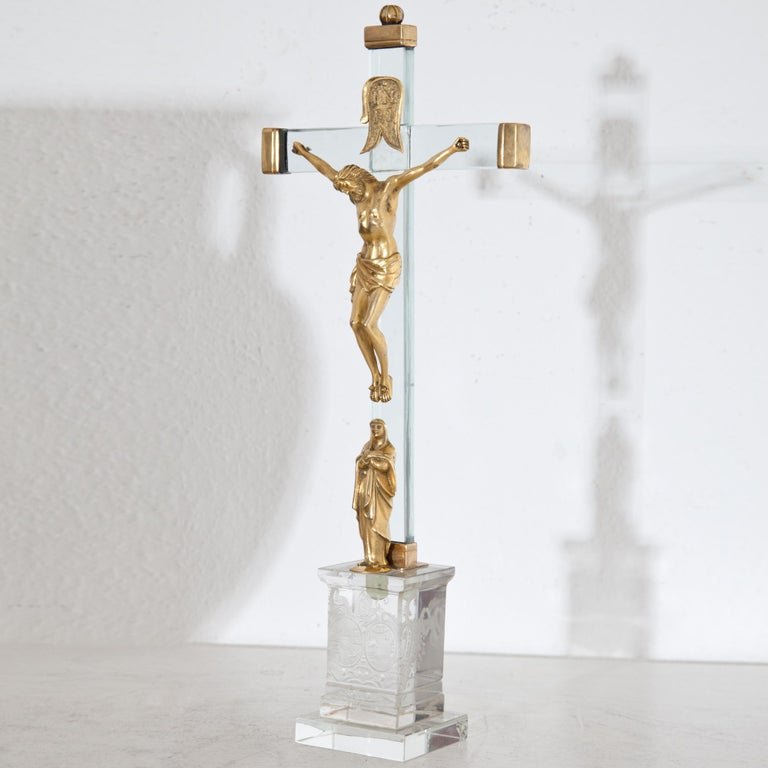 Baroque Christ on the Cross with Mary, 18th Century For Sale