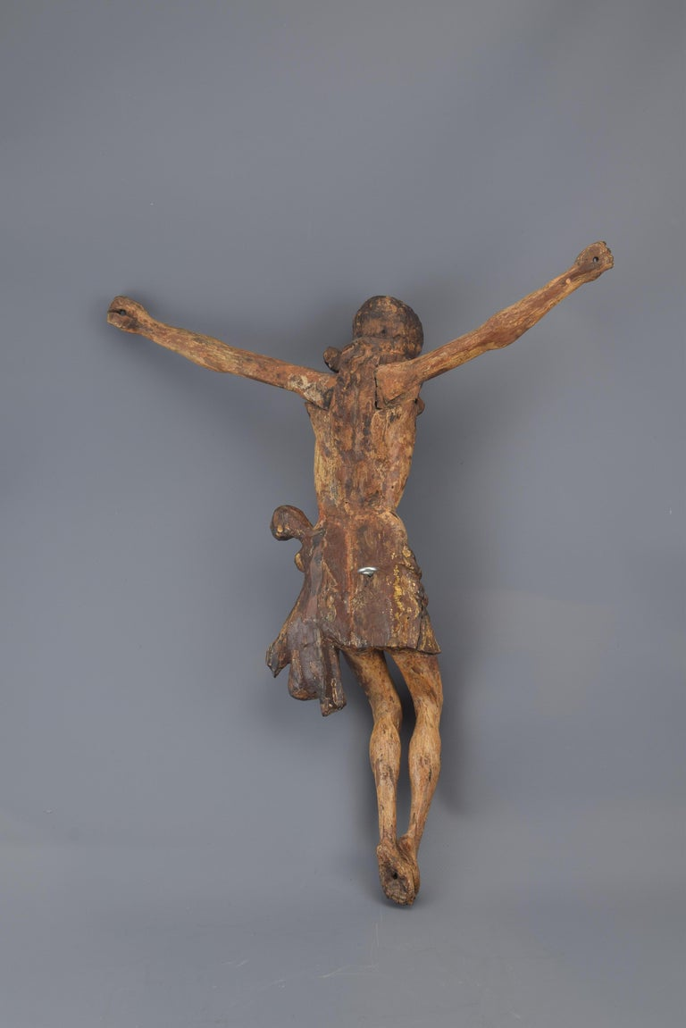 Renaissance Christ, Polychromed and Giltwood, Castillian School, Spain, 16th Century For Sale