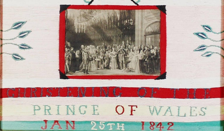 English royal woolwork picture,