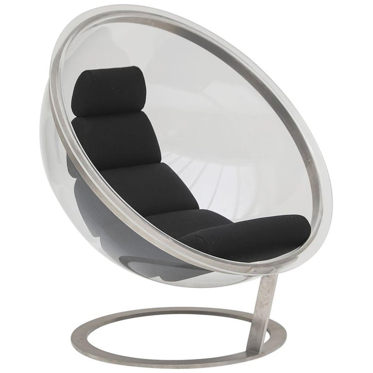 Christian Daninos Bubble Lucite Chair For Sale