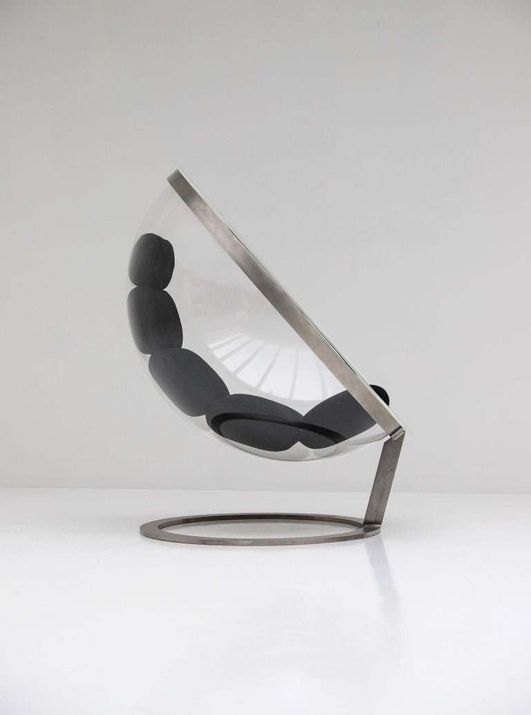 Late 20th Century Christian Daninos Bubble Lucite Chair For Sale