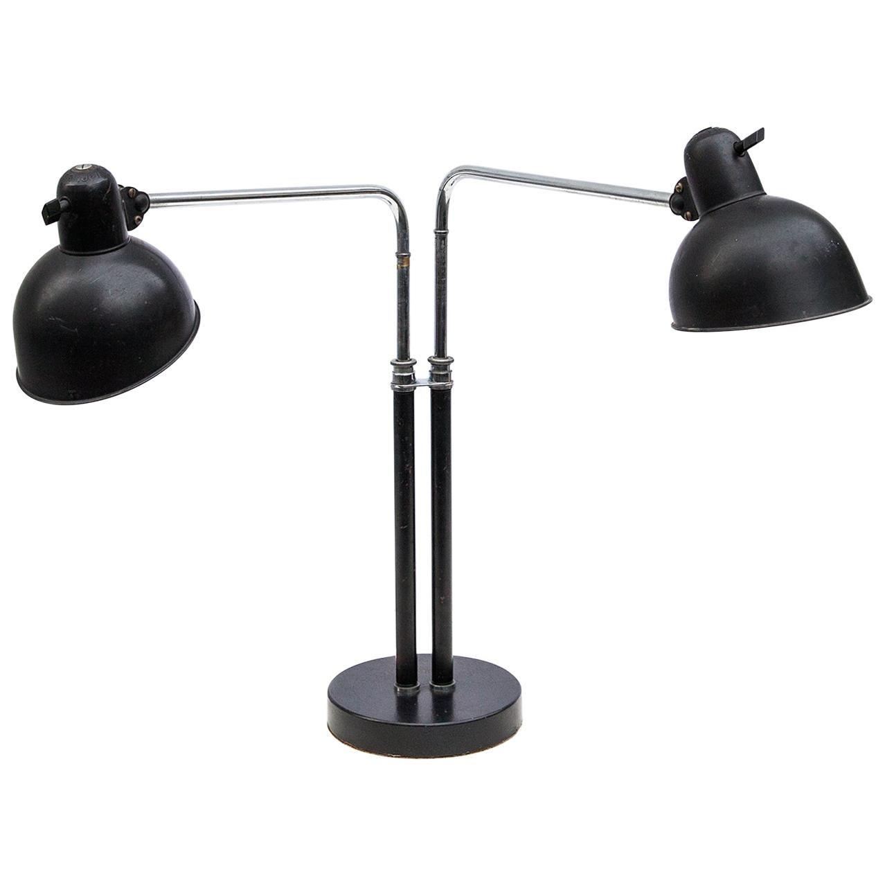 Christian Dell Bauhaus Table Lamp 6580 Super for Kaiser Idell, 1930s